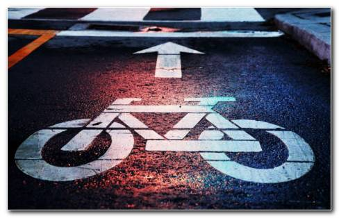 Bicycle Road Direction HD Wallpaper