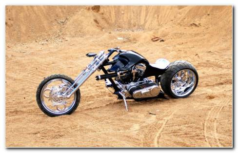 Big Wheels Chopper HD Wallpaper