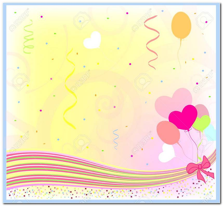 Birthday Greetings Background