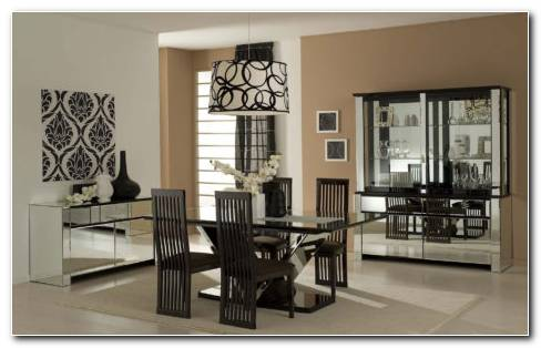 Black And White Dinning Room HD Wallpaper