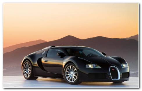 Black Bugatti HD Wallpaper