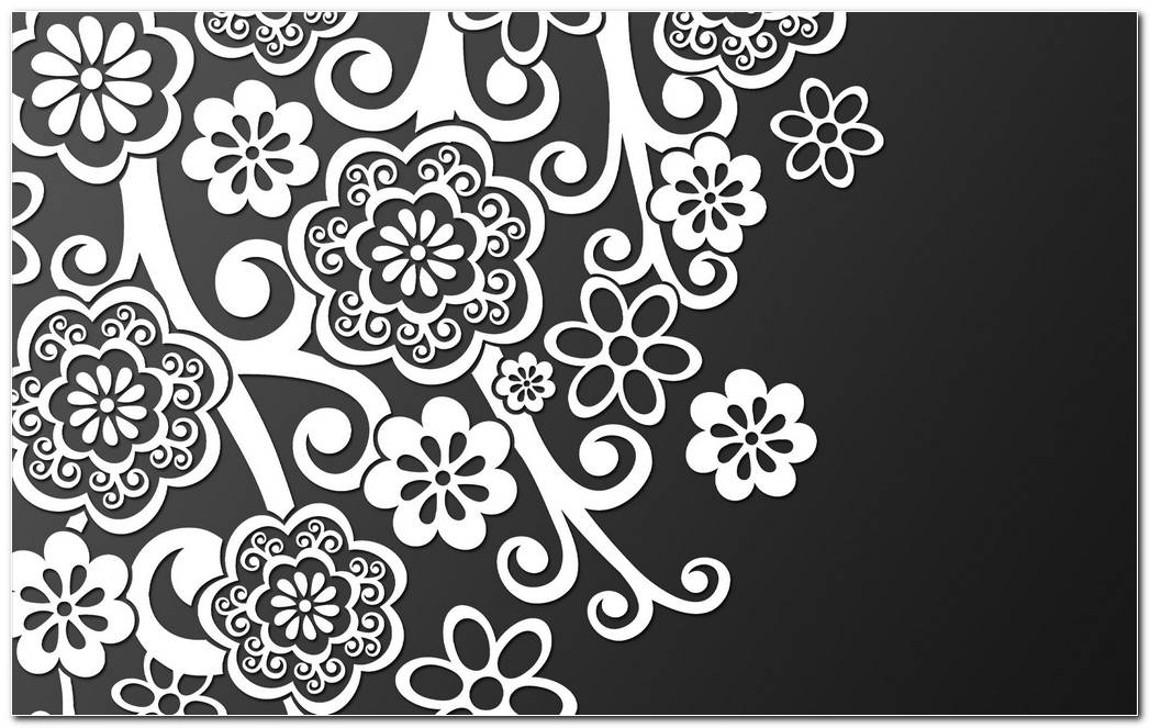 Black Pattern Swirl Background Wallpaper