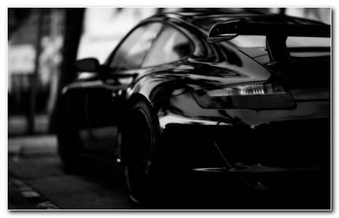 Black Porsche HD Wallpaper