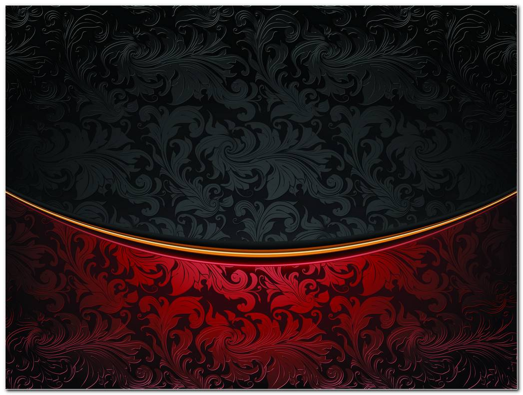 Black Red Floral Wallpaper Background