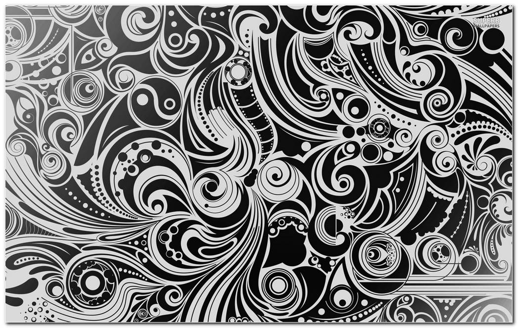 Black & White Swirl Background Wallpaper