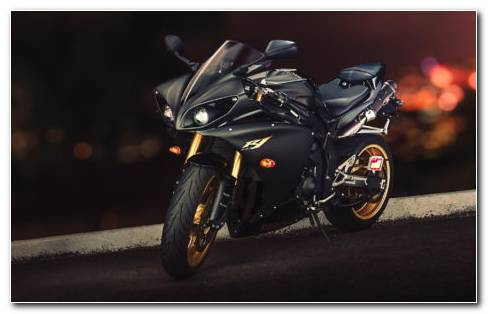 Black Yamaha YZF R1 HD Wallpaper