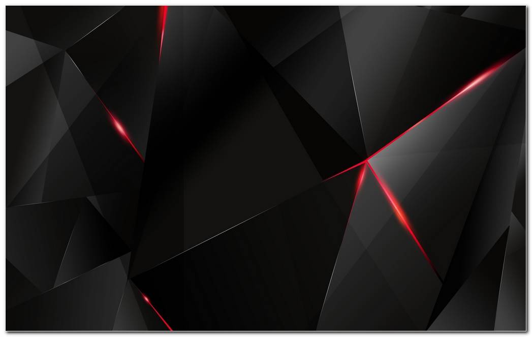 Black polygon with red edges Wallpaper 1202 1920x1200