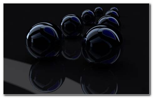 Black Reflection Balls HD Wallpaper