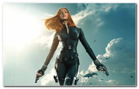 Black Widow Captain America The Winter Soldier Wide Wallpaper