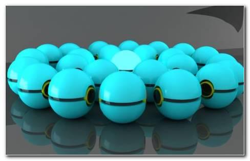 Blue And Black Balls. Blue Pokeballs