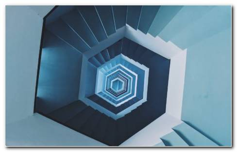 Blue And White Staircase Design