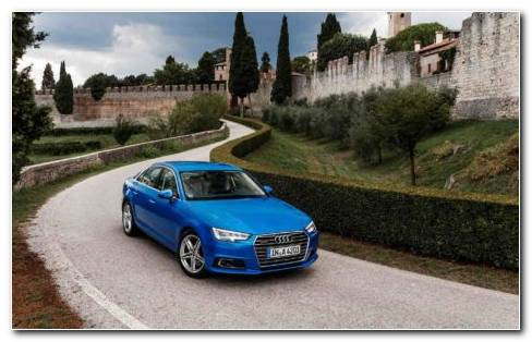 Blue Audi TFSI On Road