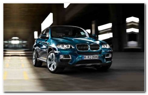 Blue BMW X6 Car Model 2018