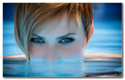 Blue Eyes Pool Wallpaper