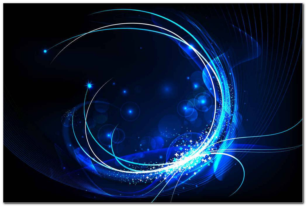 Blue Glow Swirl Background Wallpaper