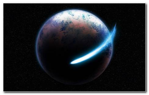 Blue Meteor Near Earth