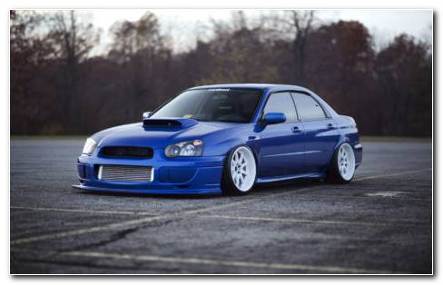 Blue Subaru Impreza HD Wallpaper