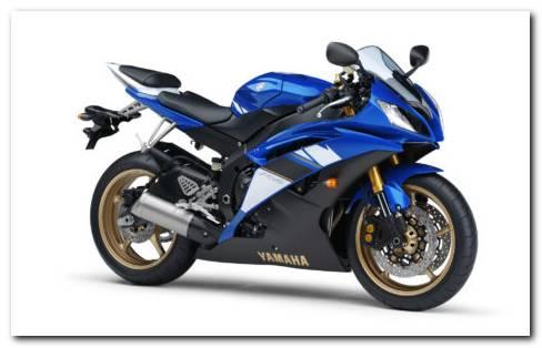 Blue Yamaha R6 HD wallpaper