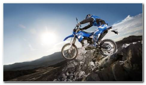 Blue Bike Stunt HD Wallpaper