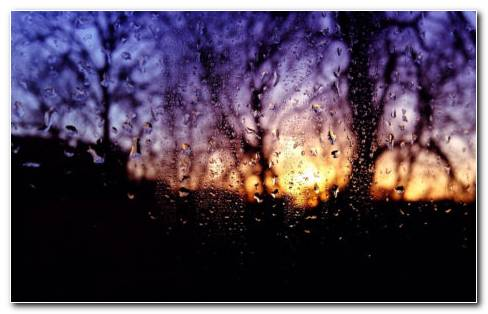 Blur Glass Rain HD Wallpaper