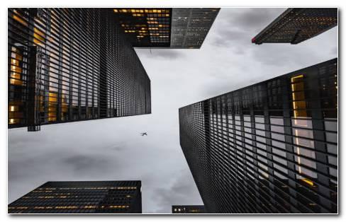 Bottom View Of Skyscrapers HD Wallpaper