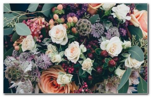 Bouquet Flowers Decoration HD Wallpaper