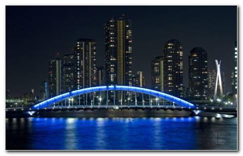 Bridge Eitai Tokyo HD Wallpaper