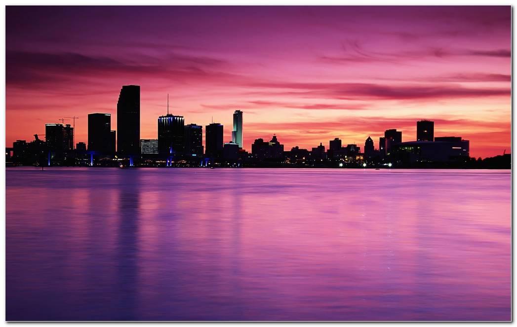 Bridges Cities Rivers Sunrise Sunset Nature Wallpaper Background