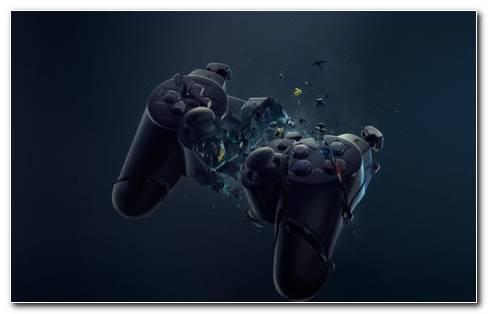 Broken Xbox Controller HD Wallpaper