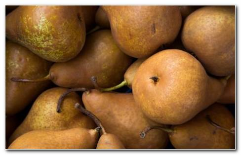 Brown Pears Or Pyrus Fruit