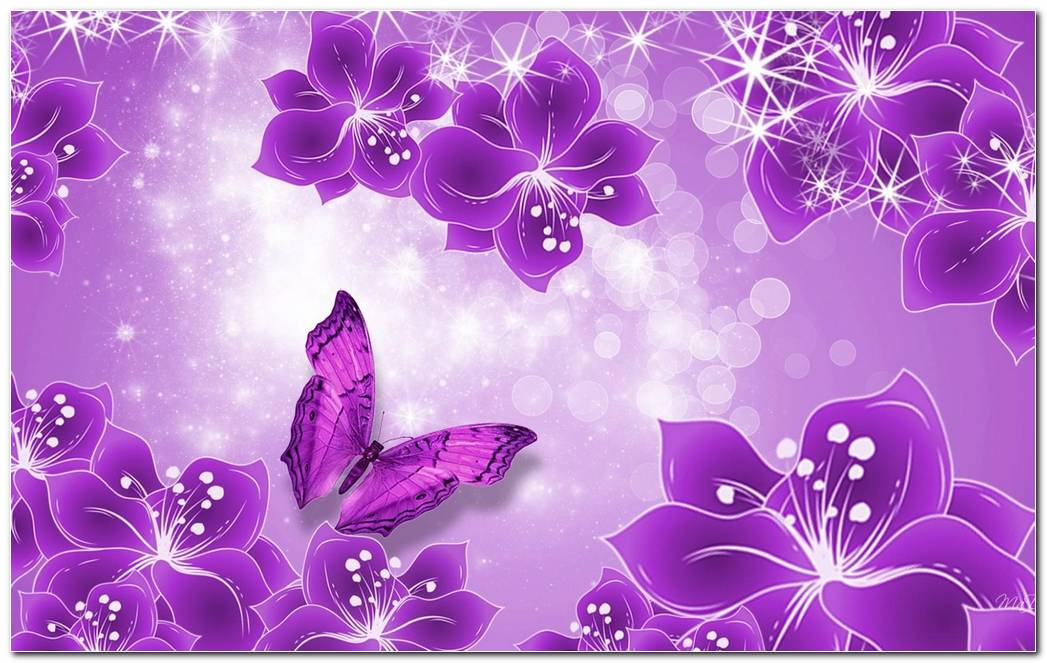 Butterflies Purple Background Wallpaper