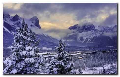 Canada Freezing Mountains HD Wallpaper