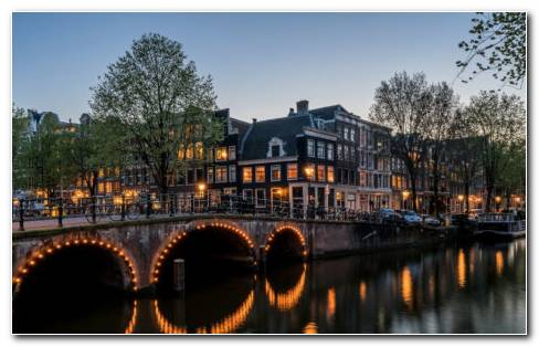 Canal Houses Amsterdam HD Wallpaper