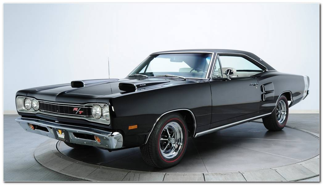 Cars Dodge Coronet Rt Black Classic Muscle Car Wallpaper MixHD 1920x1080 (1)