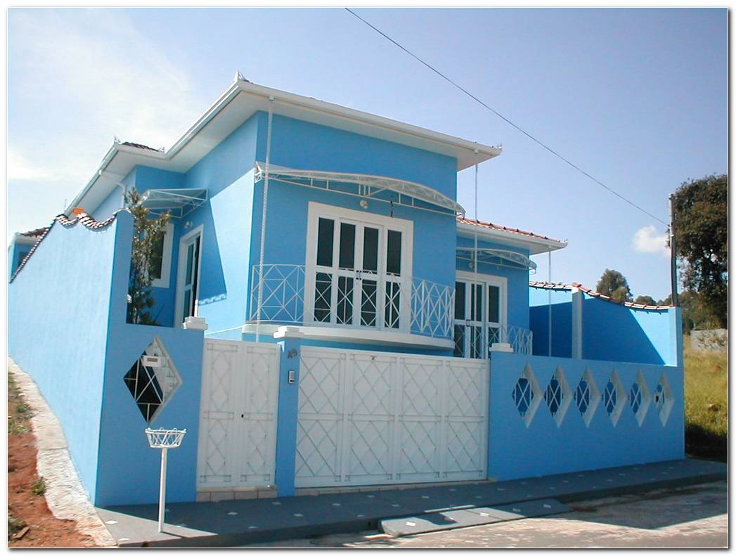 Casa Color Azul Exterior