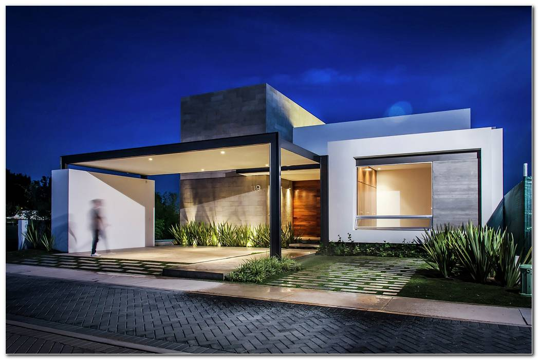 Casas Modernas De Una Planta Y Tres Dormitorios