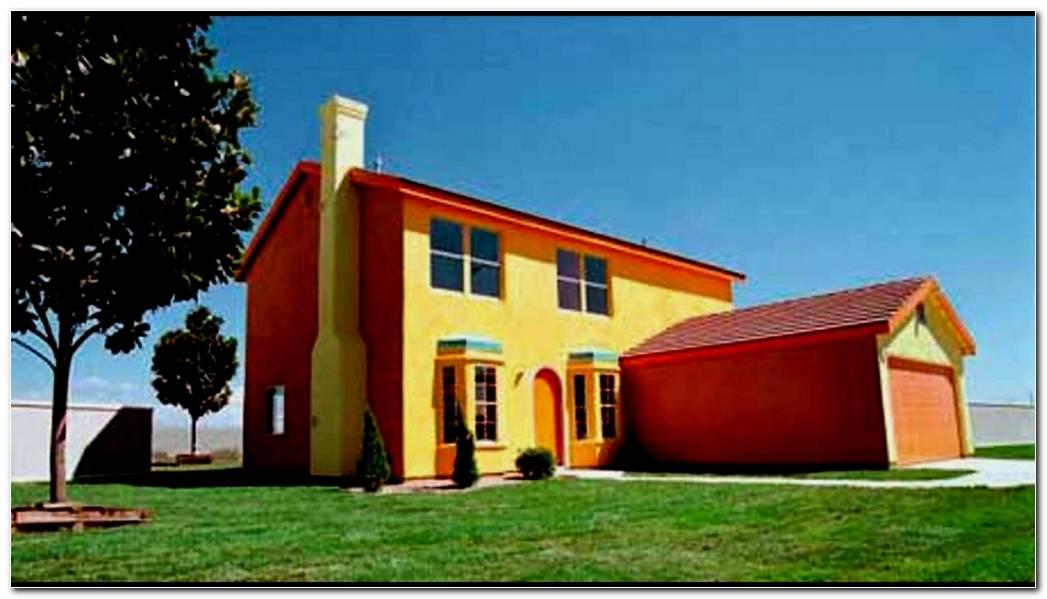 Casas Pintadas Exterior Naranja