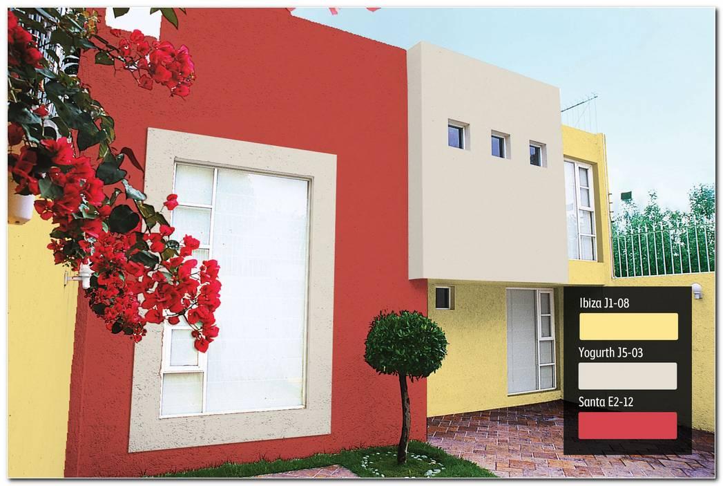 Casas Pintadas Exterior Rojo