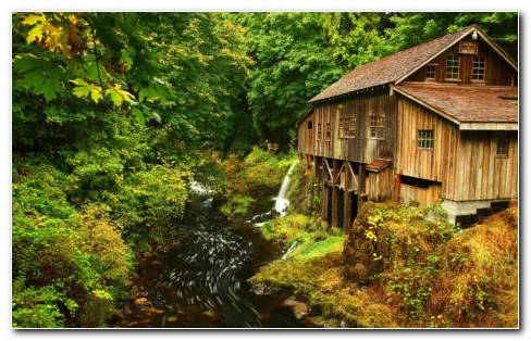 Cedar Creek Grist Mill Washington HD Wallpaper