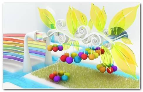 Cherries 3D HD Wallpaper