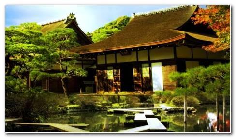 Chinese Tea House HD Wallpaper