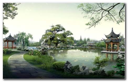 Chinese Classical Garden HD Wallpaper