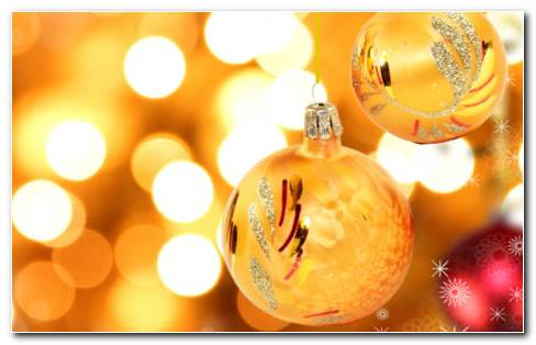Christmas Orange Decorations HD Wallpaper