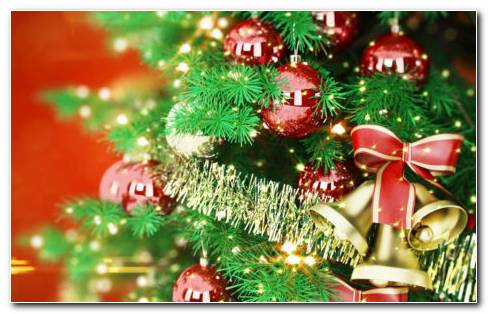 Christmas Bells & Toys HD Wallpaper