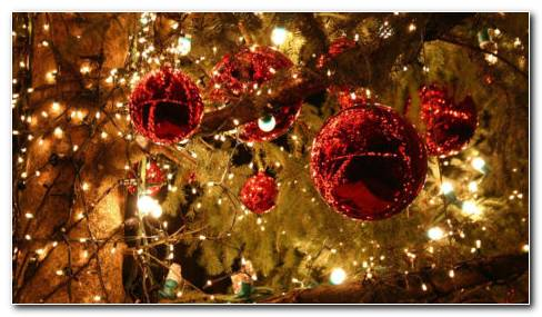 Christmas Night Decorations HD Wallpaper
