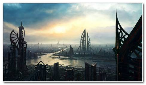 Cities Of Future HD Wallpaper