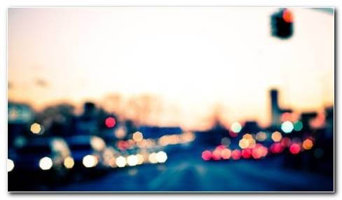 City Bokeh HD Wallpaper