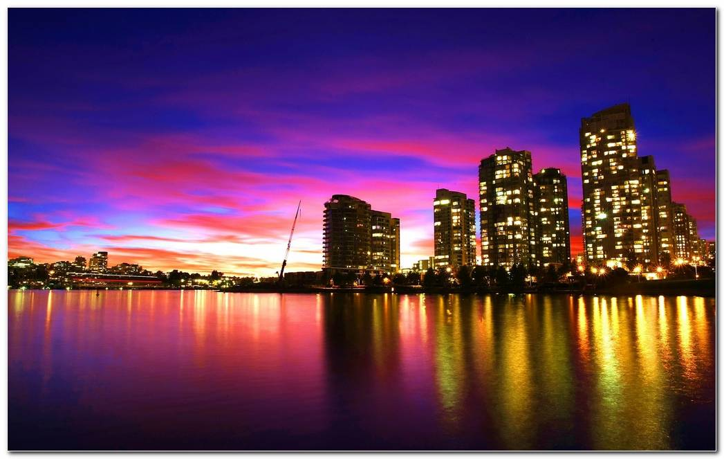 City Sunset Background Wallpaper Download