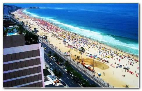 Cityscapes Architecture Buildings Brazil Rio De Janeiro Cities Copacabana Wallpaper