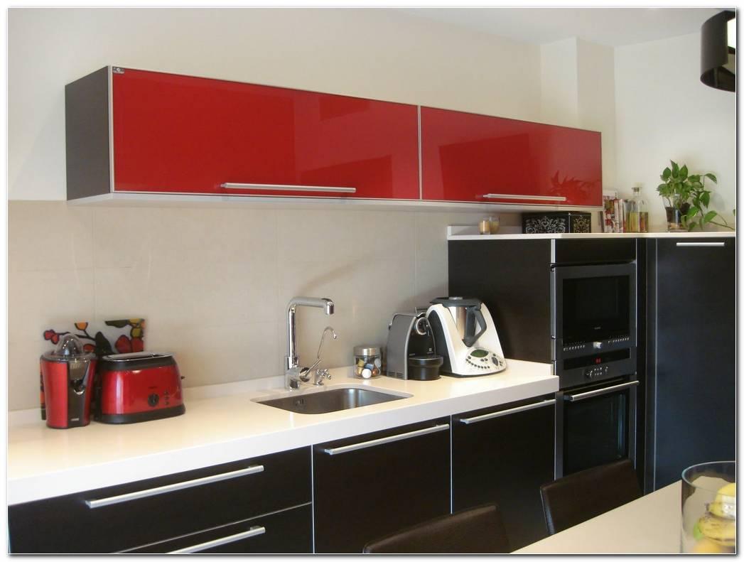 Cocina Color Rojo Con Chocolate